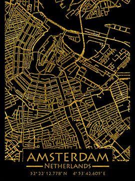 Amsterdam Nederland Stadsplattegrond van Carina Buchspies