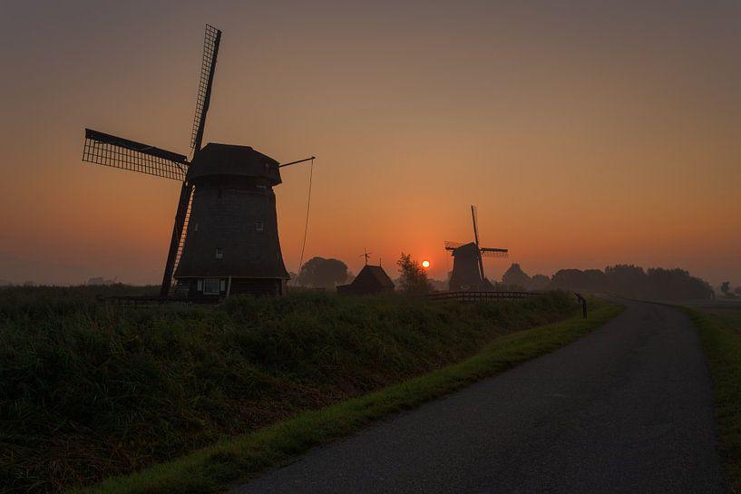 Molens Rustenburg in de ochtend van Sven van der Kooi