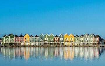 Rainbow Houses Houten von Erwin van den Berg