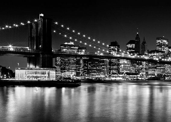 Night Skyline MANHATTAN Brooklyn Bridge