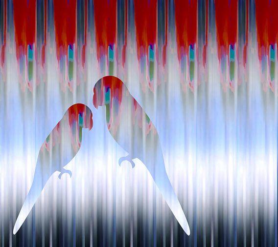 Papegaaienliefde.... van Wil van der Velde/ Digital Art