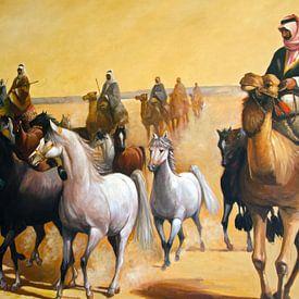 Paarden in de woestijn van Ellinor Creation