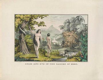 Adam und Eva im Garten Eden von Andrea Haase