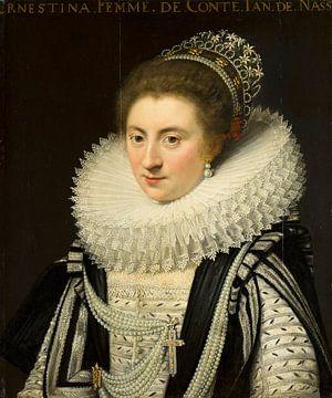 Portret van Ernestine Yolande, Jan Anthonisz van Ravesteyn sur