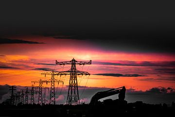 Zonsonder, Werk in uitvoering, Elektriciteit. Power. sur
