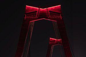 De Willemsbrug in Rotterdam in de nachtelijke uren
