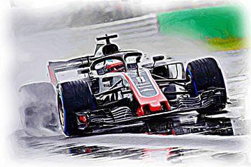 Romain Grosjean en een regenachtige dag in Italië van Jean-Louis Glineur alias DeVerviers