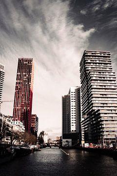 Rotterdam Skyline Hochhaus Gebäude Die Niederlande von Rachelle Sarkis