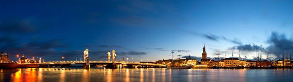 Kampen panorama met zicht op de IJssel