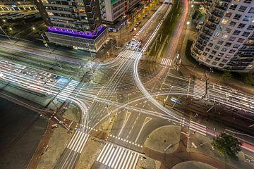 Het verkeersplein Vasteland in Rotterdam van MS Fotografie | Marc van der Stelt