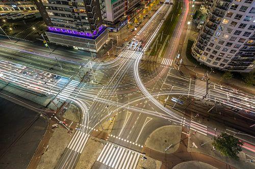 Het verkeersplein Vasteland in Rotterdam van