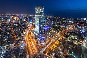 De skyline van Tel Aviv in Israel van Michiel Ton
