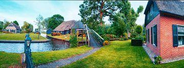 zommer  panorama van nederlands dorp van Ariadna de Raadt