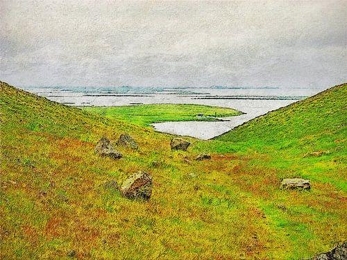 IJsland: Uitzicht op het Muggenmeer