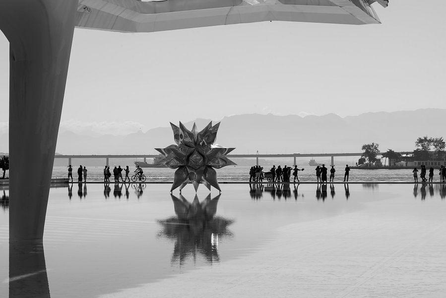 Reflecties in water, Rio van Leon Doorn