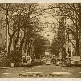 Carte postale d'époque: Rue Witte de With à Rotterdam sur Frans Blok