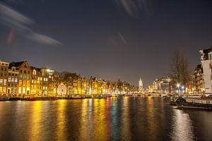 Amstel richting Halvemaansbrug te Amsterdam