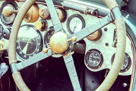 Vintage Bentley dashboard