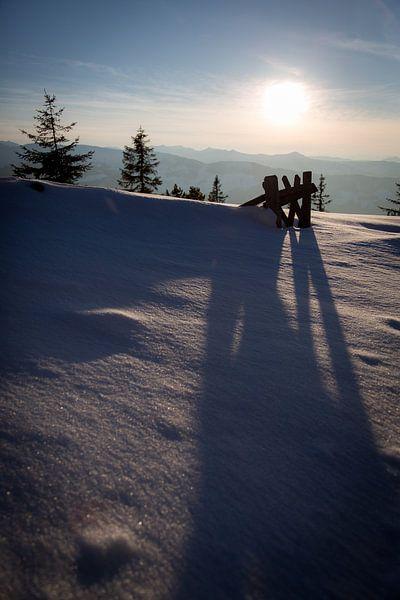 Sonnenuntergang am Brechhorn van Harry Stahl
