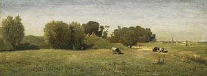 Landschap bij Abcoude, Paul Joseph Constantin Gabriël