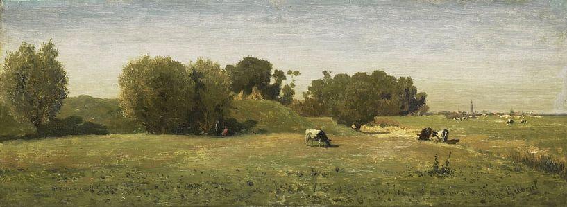 Landschaft in der Nähe von Abcoude, Paul Joseph Constantin Gabriël von Meesterlijcke Meesters