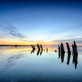 Polen , die in einer farbenprächtigen Sonnenuntergang von Sjoerd van der Wal Fotografie