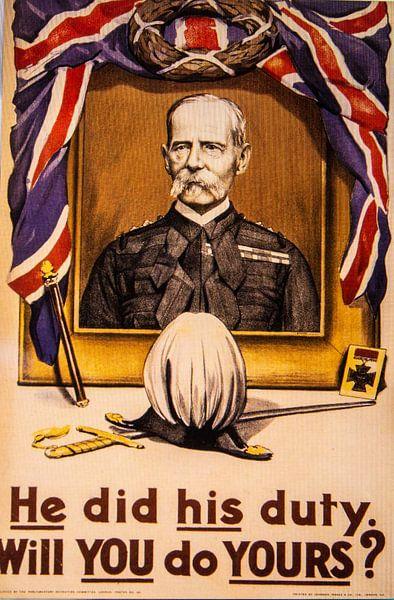 Werving poster WWI van Brian Morgan
