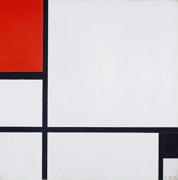 Komposition Nr. I, mit Rot und Schwarz, Piet Mondrian