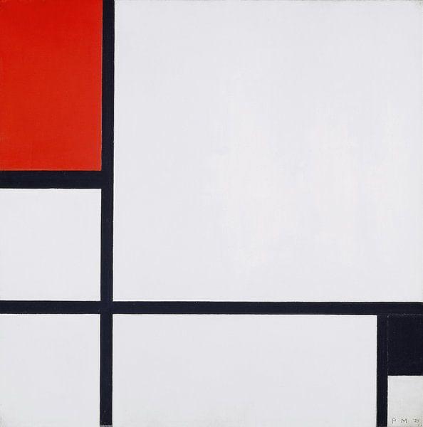Komposition Nr. I, mit Rot und Schwarz, Piet Mondrian von Meesterlijcke Meesters
