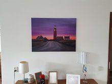 Klantfoto: Vuurtoren Texel van Roelie Steinmann, op canvas