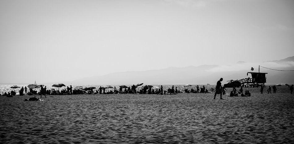 Op het strand, Santa-Monica