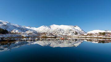 Noorwegen Kleine haven op de Lofoteneilanden van Maik Richter