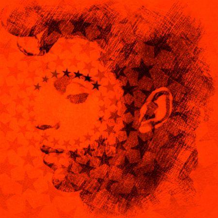 Prince Orange Pop Art Serie