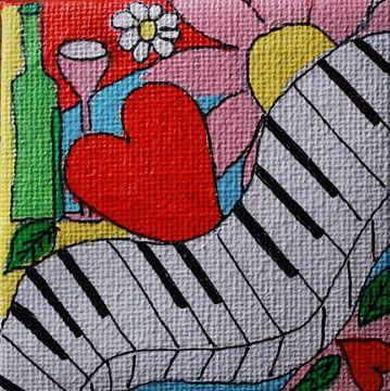 Piano liefde en wijn von Angelique van 't Riet