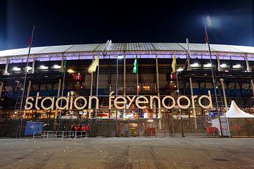 Stadion Feijenoord ofwel De Kuip in Rotterdam tijdens de halve finale van de KNVB beker 2016 von Merijn van der Vliet