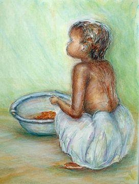 Afrikanische Kinder 2 von Ineke de Rijk