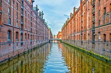 Hamburg: die Speicherstadt west van