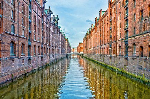 Hamburg: die Speicherstadt west
