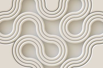 Schlangenlinien creme von Jörg Hausmann