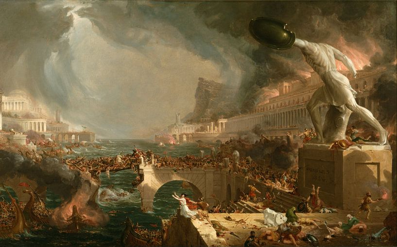 Zerstörung, Thomas Cole von Meesterlijcke Meesters