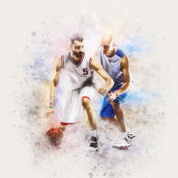 Basketbal Spelers In Actie van Diana van Tankeren