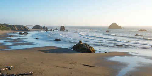 Goddelijk strand aan de kust van Oregon (VS)