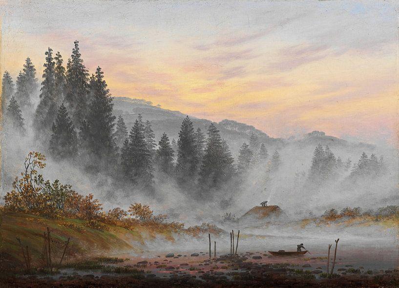 Caspar David Friedrich - Dagscyclus, De Ochtend van 1000 Schilderijen
