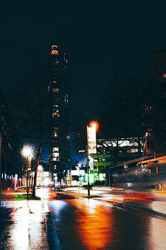 Vesteda toren in de nacht van Robin van Steen