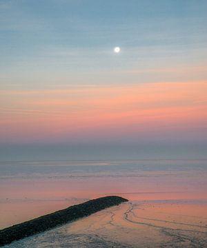 Het Wad bij zonsopgang von Harrie Muis