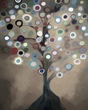 Farbiger Baum von Angel Estevez