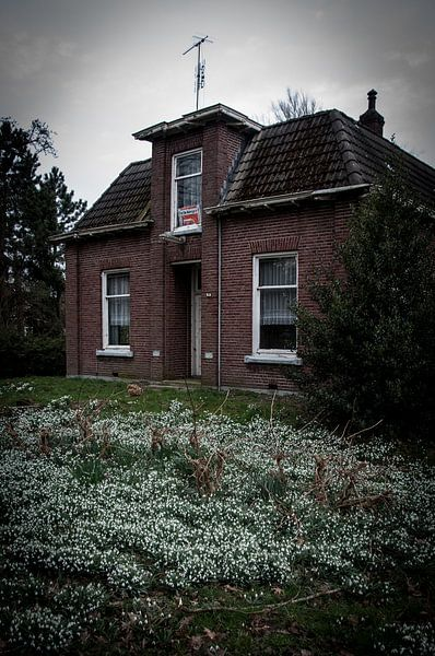 Leegstaand huis van Roel Van Cauwenberghe
