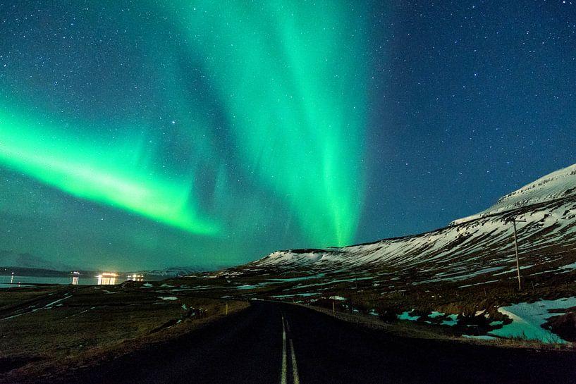 Noorderlicht in IJsland van Jasper den Boer