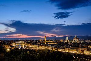 Avond in Florence - stadsgezicht