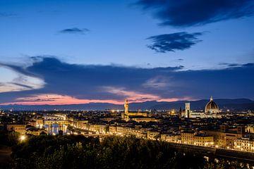 Avond in Florence - stadsgezicht van Henk Verheyen